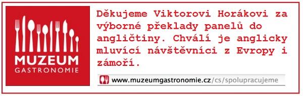 Reklama na stránkách Muzea gastronomie